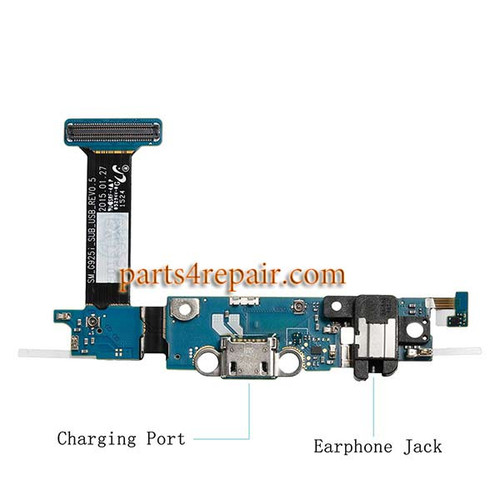 Dock Charging Flex Cable for Samsung Galaxy S6 Edge G925I from www.parts4repair.com