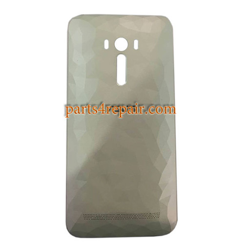 Back Cover with Power Button for Asus Zenfone Selfie ZD551KL -Diamond White