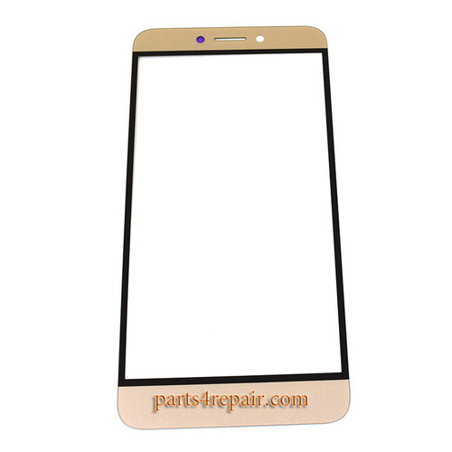 Front Glass with Keypad Light Flex Cable for Letv Le 1s X500 6 pin -Gold