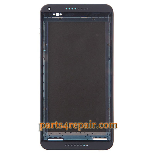 Front Housing Cover with Side Keys for HTC Desire 816G -Black