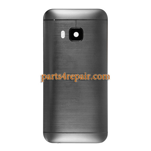 Back Cover with Side Keys for HTC One M9 -Grey