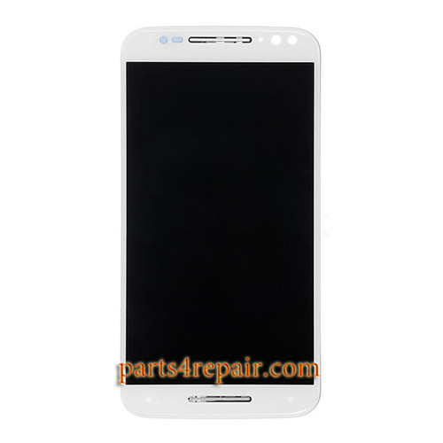 Complete Screen Assembly with Bezel for Motorola X style -White