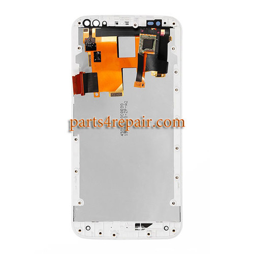 Complete Screen Assembly with Bezel White for Motorola X style