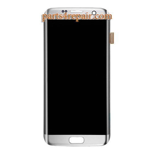 Complete Screen Assembly for Samsung Galaxy S7 Edge All Versions -Silver