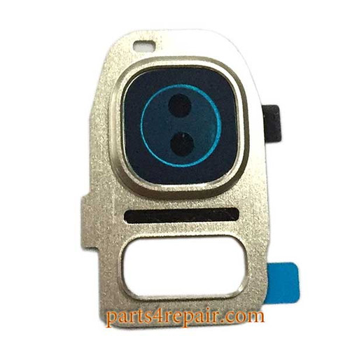 Camera Cover & Camera Lens for Samsung Galaxy S7 All Versions -Gold