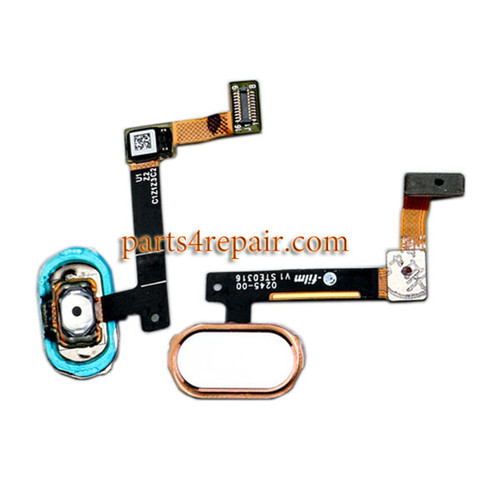 Home Button with Flex Cable for Oppo R9 (F1 Plus) -Rose Gold