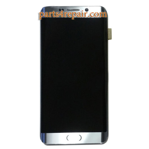 Complete Screen Assembly with Bezel for Samsung Galaxy S6 Edge+ -Silver
