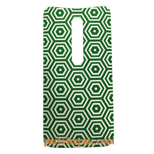 Back Cover with Adhesive for Motorola Moto X Style -Green