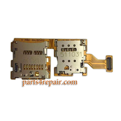 SIM Connector Flex Cable for HTC One A9 from www.parts4repair.com
