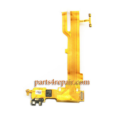 Mic Speaker Flex Cable for Oppo R7s (Yellow Flex Cable)