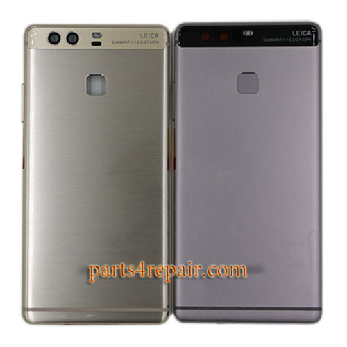 Back Housing Cover with Side Keys for Huawei P9 -Gray