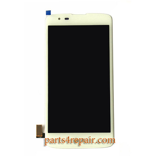 Complete Screen Assembly for LG K8 -White