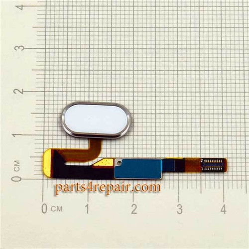 Home Button Flex Cable for Meizu Pro 6 -White