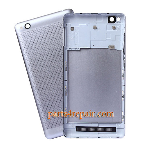 Back Housing with Side Keys for Xiaomi Redmi 3 -Silver