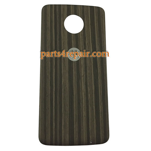 Back Case for Motorola Moto Z -Black Wood