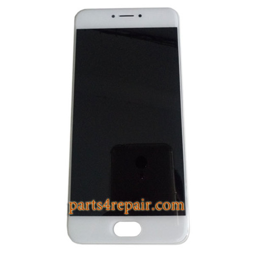 Complete Screen Assembly with Bezel for Meizu Pro 6 -White
