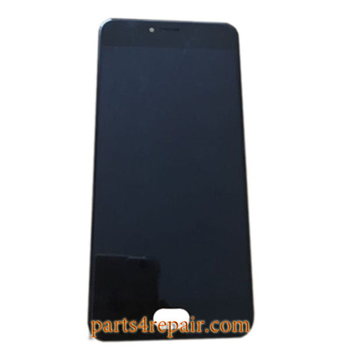 Complete Screen Assembly with Bezel for Meizu Pro 6 -Black