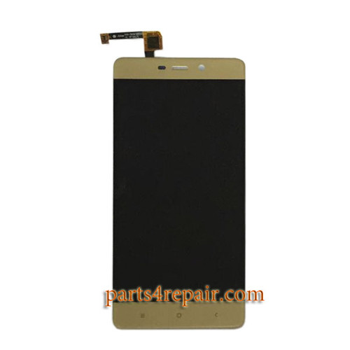 Complete Screen Assembly for Xiaomi Redmi 4 High-end Version -Gold