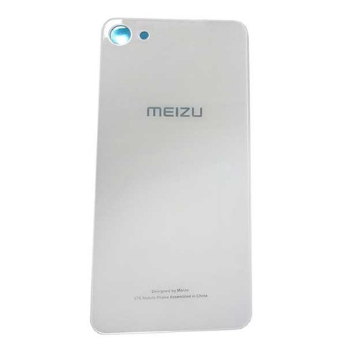 Back Glass Cover with Adhesive for Meizu U10 -White
