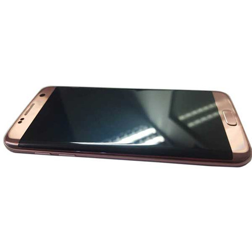 Complete Screen Assembly with Bezel for Samsung Galaxy S7 Edge -Pink Gold