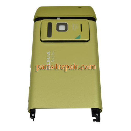 Battery Cover with Middle Panel for Nokia N8-Green