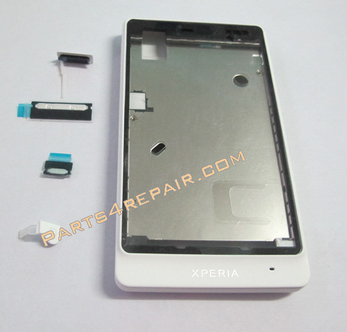 Battery Cover + Front Cover for Sony Xperia go ST27i -White