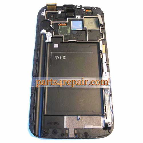 Complete Screen Assembly with Bezel for Samsung Galaxy Note II N7100 -White