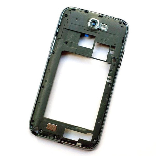 Samsung Galaxy Note II N7100 Middle Cover with Side Keys -Black