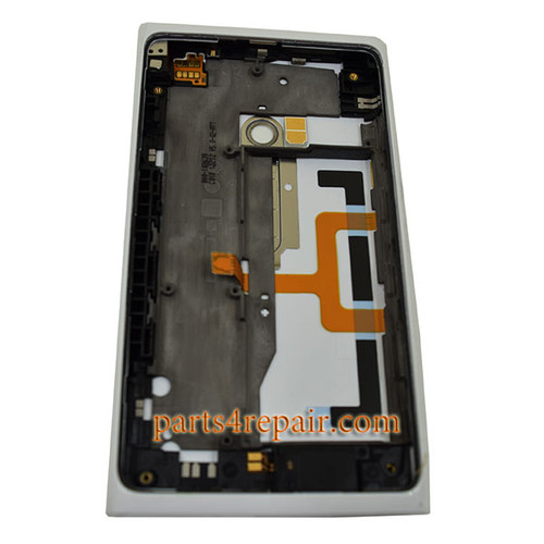 Back Housing Cover with Side Keys for Nokia Lumia 900 -White