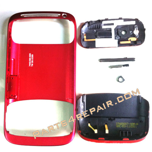 Full Housing Cover for HTC Desire S - Red