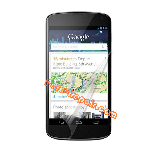 Clear Screen Protector Shield Film for LG Nexus 4 E960