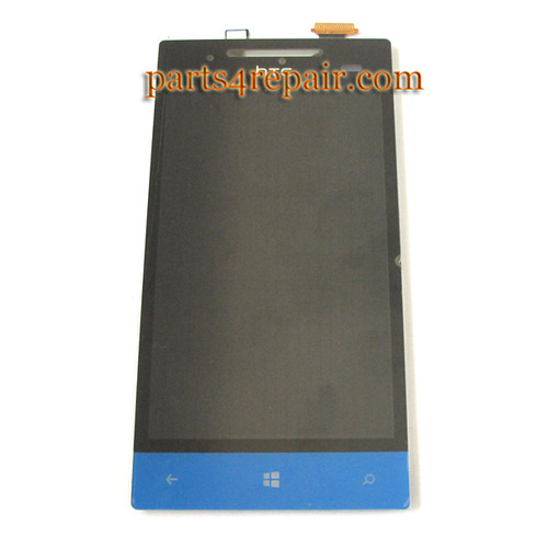 Complete Screen Assembly for HTC Windows Phone 8S -Blue
