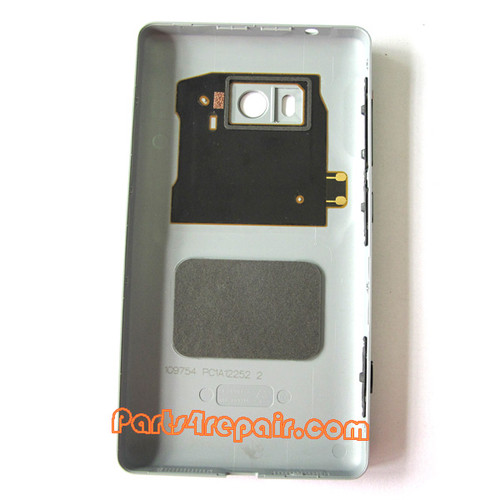 Back Cover without Wireless Charging Coil for Nokia Lumia 810 (T-Mobile) -Gray