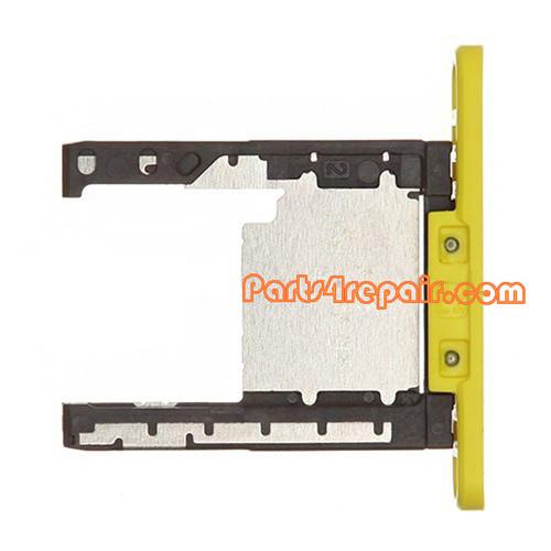 Memory Card Holder Tray for Nokia Lumia 720 -Yellow