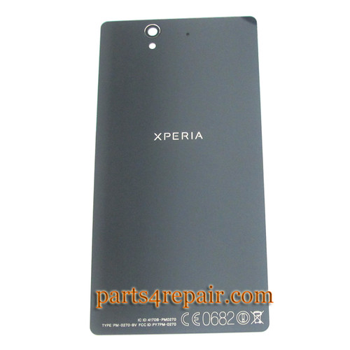 Back Cover for Sony Xperia Z L36H -Black