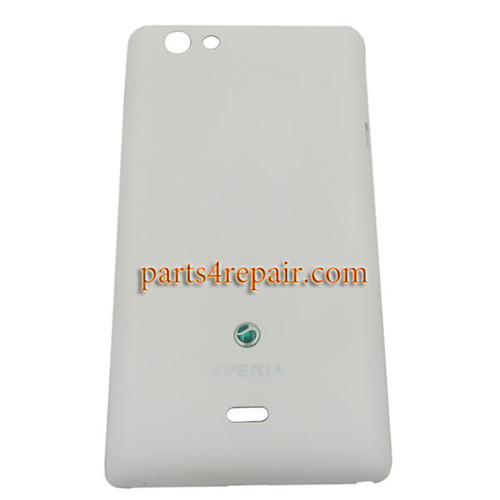 Back Cover for Sony Xperia miro ST23I -White from www.parts4repair.com