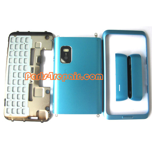 Full Housing Cover for Nokia E7 / E7-00 -Blue
