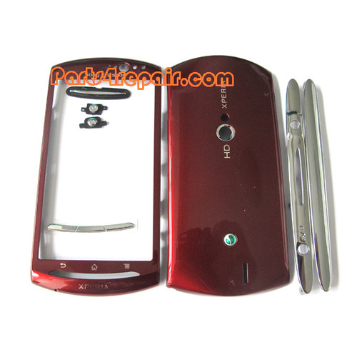 Sony Ericsson Xperia Neo V Full Housing Cover -Red from www.parts4repair.com