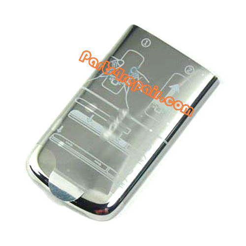 Battery Cover for Nokia 6700 Classic -Silver from www.parts4repair.com
