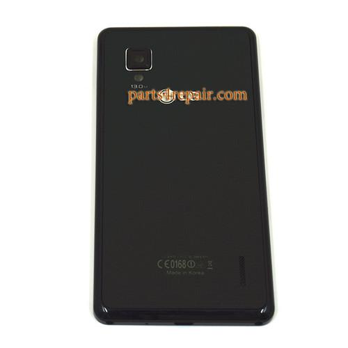 Back Cover for LG Optimus G E975 -Black
