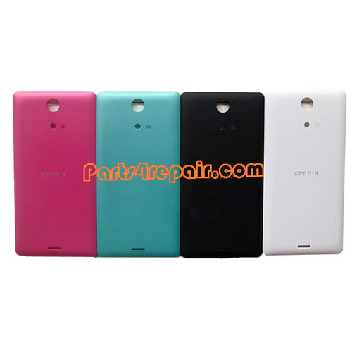 Back Cover for Sony Xperia ZR M36H -Red from www.parts4repair.com