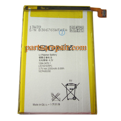 Built-in Battery for Sony Xperia ZL L35H (Used)