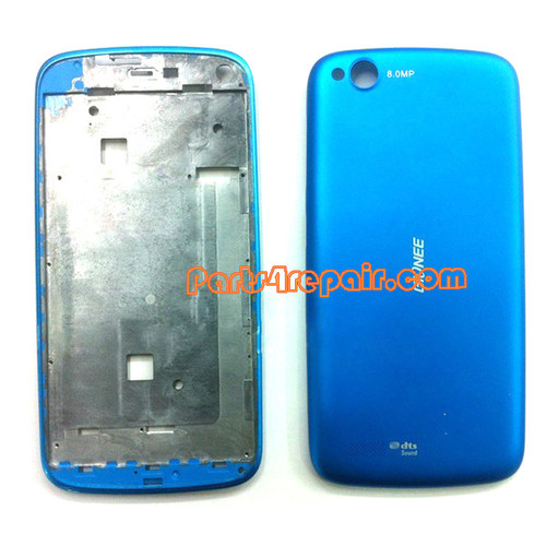 Full Housing Cover for Gionee E3 -Blue from www.parts4repair.com