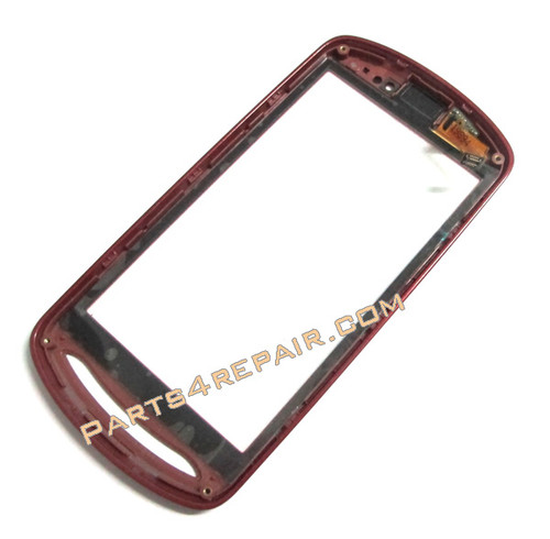 Sony Ericsson Xperia Pro Touch Screen with Bezel -Red from www.parts4repair.com
