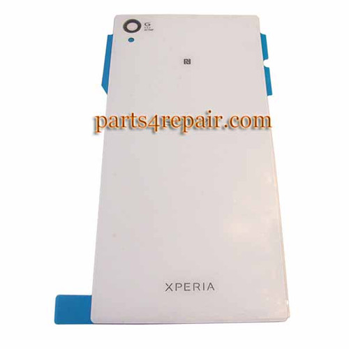 Back Cover OEM for Sony Xperia Z1 L39H -White from www.parts4repair.com