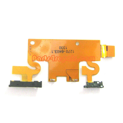 Side Key Flex Cable for Sony Xperia Z1 L39H from www.parts4repair.com