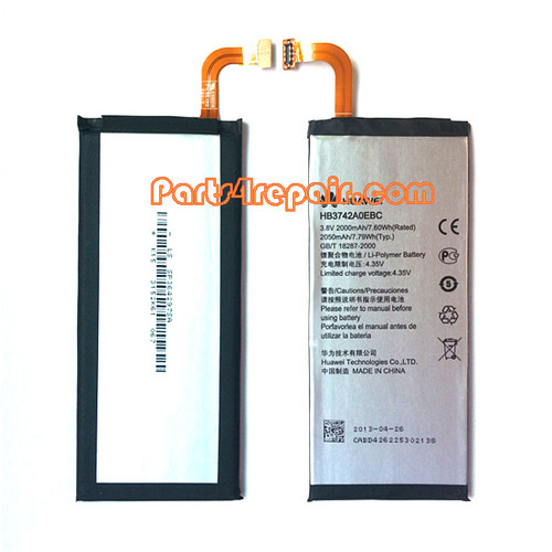 2000mAh Battery for Huawei Ascend P6