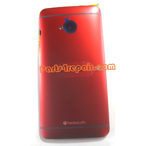 Back Cover for HTC One -Red