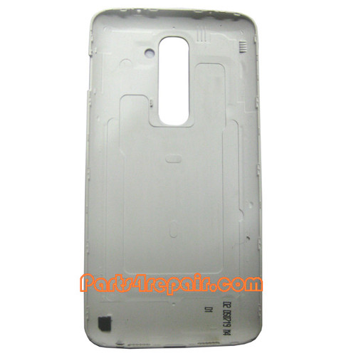 Back Cover without NFC for LG G2 D802 -White from www.parts4repair.com