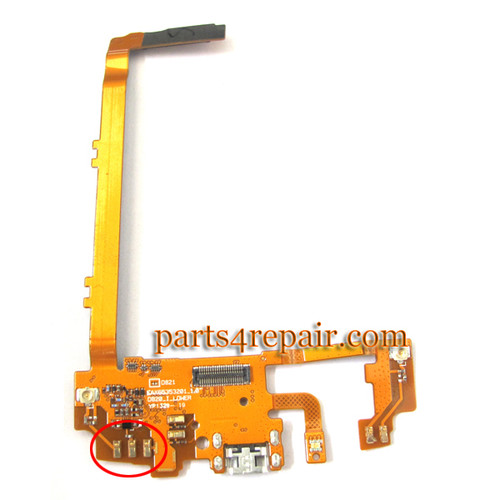 Dock Charging Flex Cable for LG Nexus 5 D821 from www,parts4repair.com